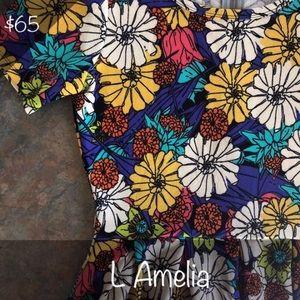 BNWT LuLaRoe Amelia Pleated Skirt with Pockets